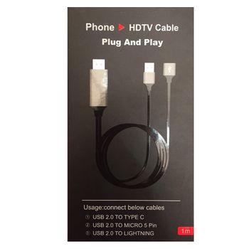 Cáp MHL cho iphone HDMI HDTV đa năng