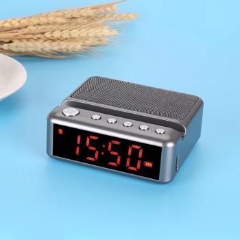 Loa Bluetooth Mini G24 có đồng hồ led báo thức - Kiêm giá đỡ điện thoại