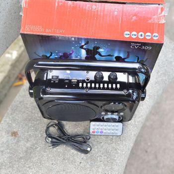 Loa bluetooth karaoke CV 309 - tặng kèm micro có dây