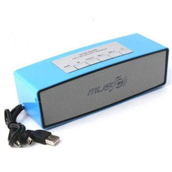 Loa Bluetooth WS 636 chính hãng - Support FM radio/USB/Thẻ nhớ/Tai nghe/ AUX