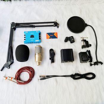 Combo mic PC K200 XOX K10 Chân kẹp Màn lọc