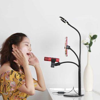 Chân đế để bàn gắn micro thu âm MB5 - 3 IN 1 có đèn Led