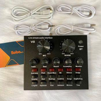 sound card thu âm V8 Autotune chính hãng