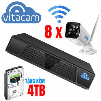 Bộ Kit camera IP NVR Boba 03 - 8 x VB1080 và đầu ghi đi kèm ổ 4TB