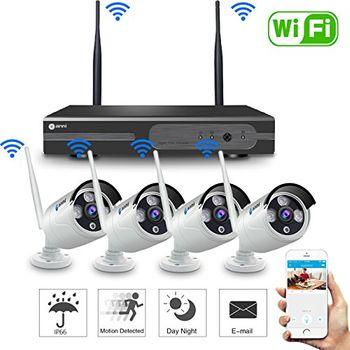 Bộ Camera Wifi HD NVR K96043 - Đầu ghi và 4 mắt camera 960p