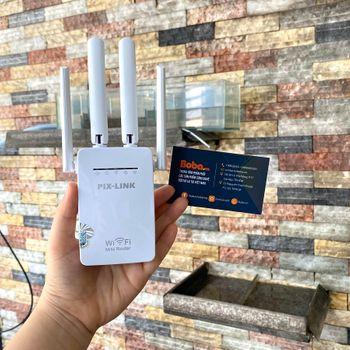 Thiết bị kích sóng wifi PIX-LINK 4 ăng ten LV-WR09