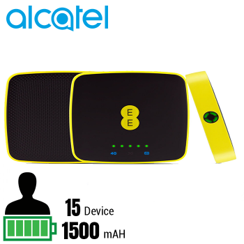 Bộ phát wifi 4G ALCATEL EE40  hỗ trợ 15 thiết bị - Hàng nhập khẩu
