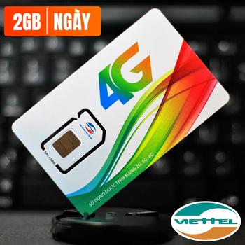 Sim 4G Viettel V90 Miễn phí 60GB Free 2Gb/ngày
