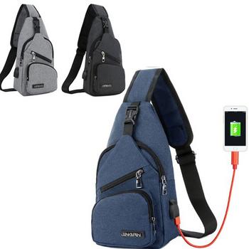 Túi đeo chéo nam Hàn Quốc chống trộm có cổng USB tiện dụng HOT 2018