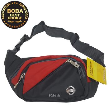 Túi đeo bụng hoặc đeo chéo Jingpin M576 - Đỏ phối đen