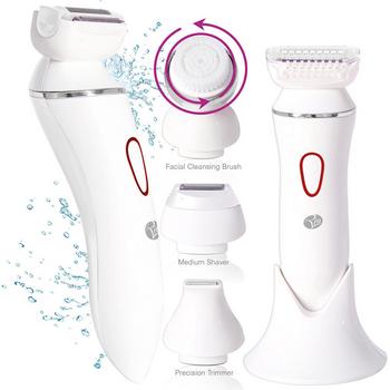 Máy rửa mặt chuyên nghiệp 4-in-1 Lady Shaver & Facial Brush