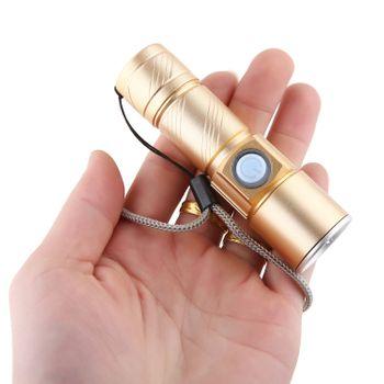 Đèn pin mini siêu zoom cực sáng CREE Q5 - Chuôi sạc USB