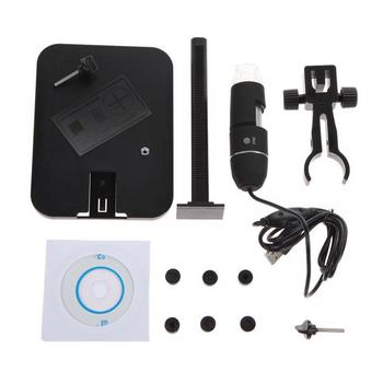 Camera nội soi mini đầu dò hiển thị chất lượng 2MP có 8 đèn LED, phóng đại 1000x + giá đỡ TX863