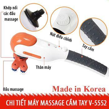 Máy massage toàn thân cầm tay Mini Squirrel 5 đầu - Hàn Quốc