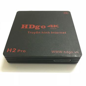 Android Tivi Box HDgo H2 Pro - Chip thế hệ mới - Truyền hình 4K