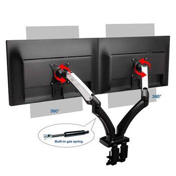 Giá treo 2 màn hình tivi máy tính F180 (17 - 27 inch)