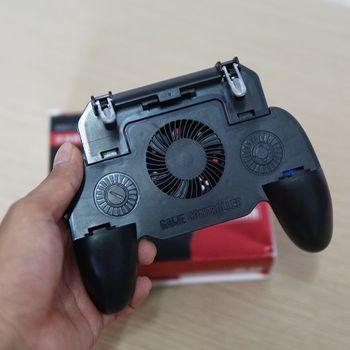 Tay kẹp nút bắn có quạt tản nhiệt SR3 - Pin 2000Mah PUBG ROS FF