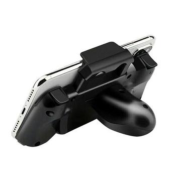Tay cầm game B15 kèm nút bấm bluetooth cho iPhone chơi game PUBG Mobile Call of duty