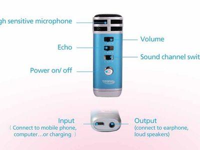 Mic hát karaoke Micro mini Teana I9S