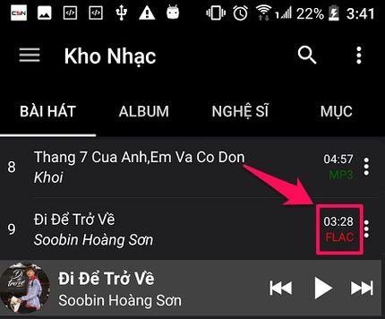 Tải nhạc Lossless miễn phí trên Android - Nghe nhạc chất lượng cao cực đã