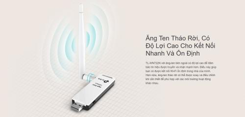 USB Thu WiFi TP-Link TL-WN722N Chuẩn N 150Mbps