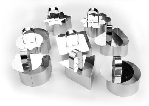 Khung làm bánh bằng thép không rỉ (nhiều hình) TT003