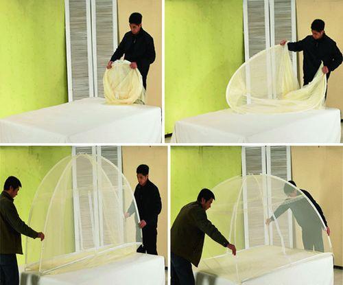 Mùng chụp tự bung 180 Cm chống muỗi, côn trùng