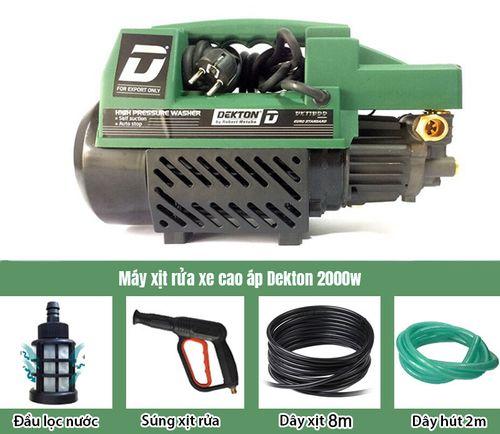 Máy xịt rửa xe áp lực cao Dekton công suất 2000W - Tặng kèm bình tạo bọt tuyết