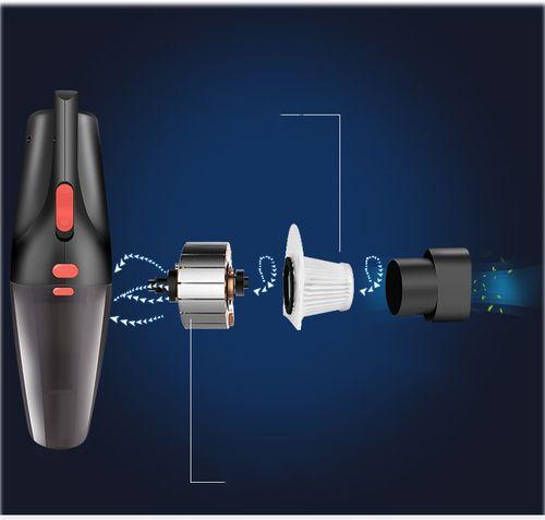 Máy hút bụi cầm tay mini siêu hút TT455 - Công suất 10W sạc tẩu trên Ôtô