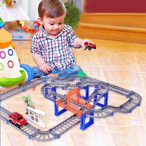 Bộ lắp ráp đường đua ô tô 88 chi tiết cho bé