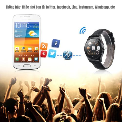 Đồng hồ thông minh R11 - Thiết kế mỏng ấn tượng theo dõi sức khỏe