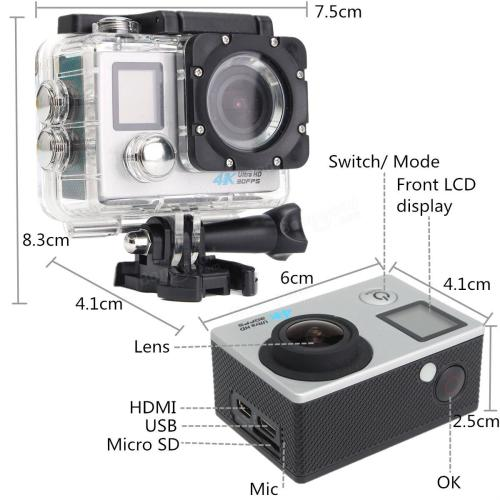 Camera hành động Sports WIFI ULTRA HD DV 4K