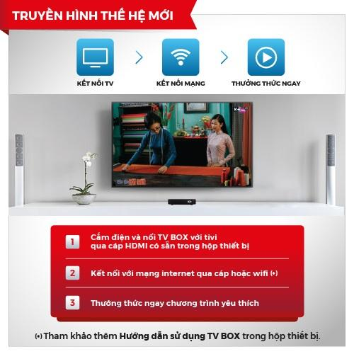K+ TV Box chính hãng phiên bản 2018 - Tặng 3 tháng xem MyK+ Now