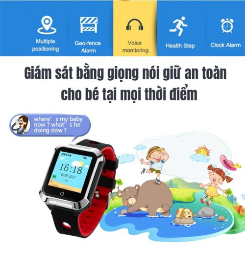 Đồng hồ định vị A20 có hỗ trợ tiếng Việt - Chống nước nhẹ