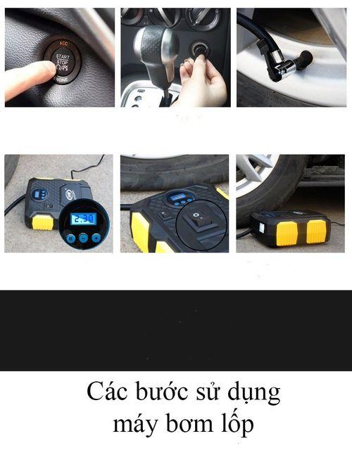 Máy bơm lốp ô tô, xe hơi điện tử Carzkool 3609 cao cấp