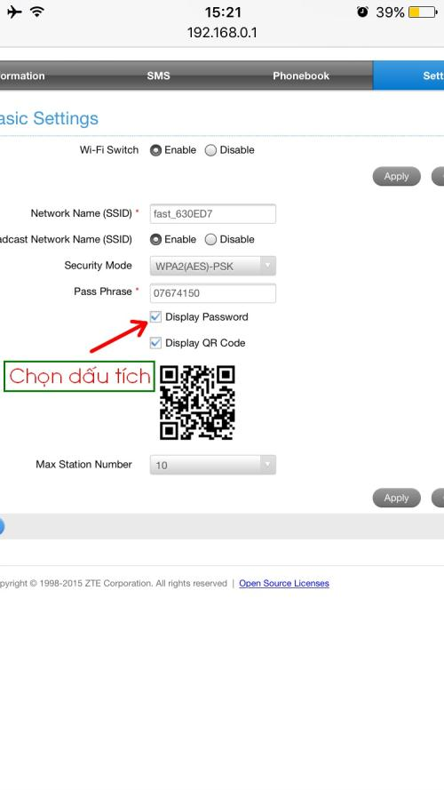 Hướng dẫn sử dụng và đổi mật khẩu bô phát wifi 4G di động ZTE MF65
