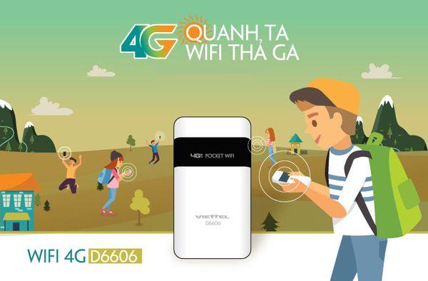 Bộ phát wifi 4G D6606 chính hãng Viettel
