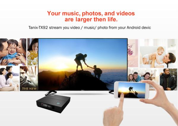 Android Box Tanix TX92 4K, amlogic S912, android 7.1, dual-Band wifi
