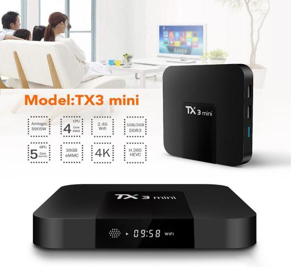 Android Box Tanix TX3 Mini - Android 7.1 Ram 1 GB
