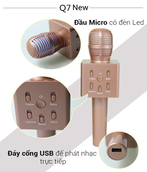Micro Karaoke Q7 loa Bluetooth - Phiên bản mới