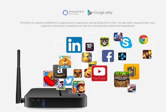 Android TV Box Zidoo X8