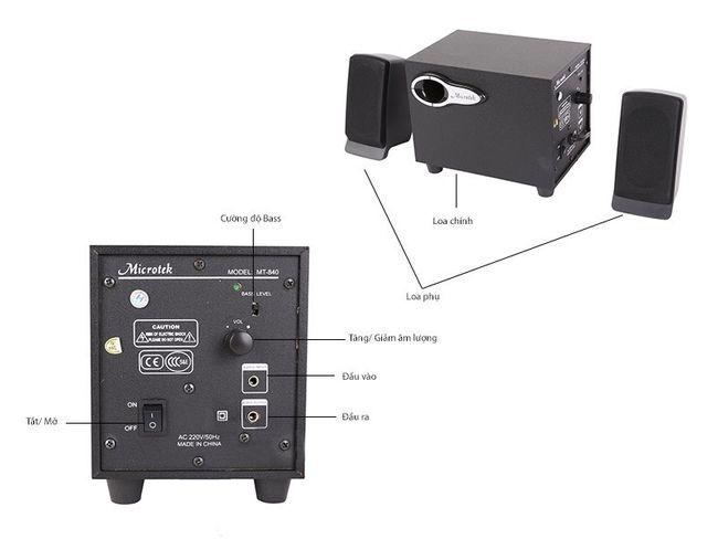 Loa vi tính Microtek MT-840 2.1