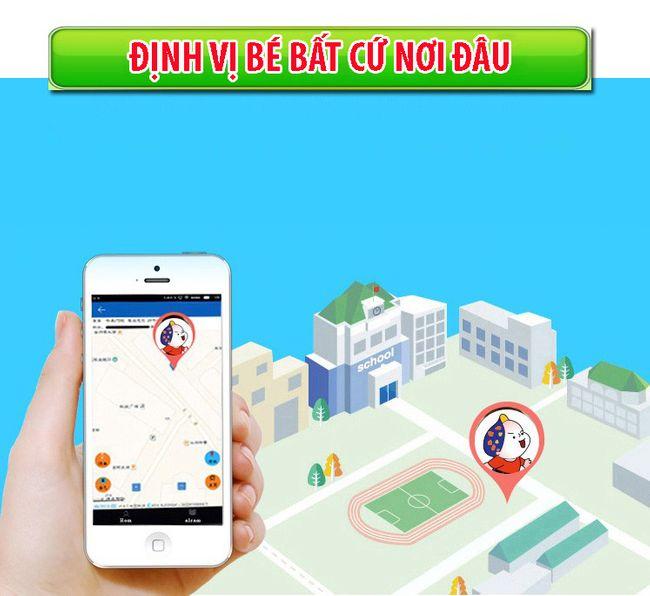 Đồng hồ định vị trẻ em E5 GPS (Hỗ trợ tiếng Việt) - Hot 2019 (Xanh)