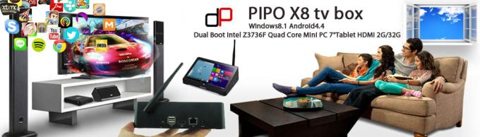 Pipo X8 - Set Top Box chạy hai OS Windows và Android