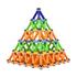 Đồ chơi xếp hình nam châm Buckybars 103 chi tiết màu P4