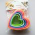 Combo 5 khuôn nhựa làm bánh trái tim