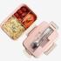 Hộp đựng cơm lúa mạch nhiều ngăn TH258 - Có van khóa