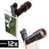 Len cho điện thoại zoom 12X - Mẫu kẹp trực tiếp