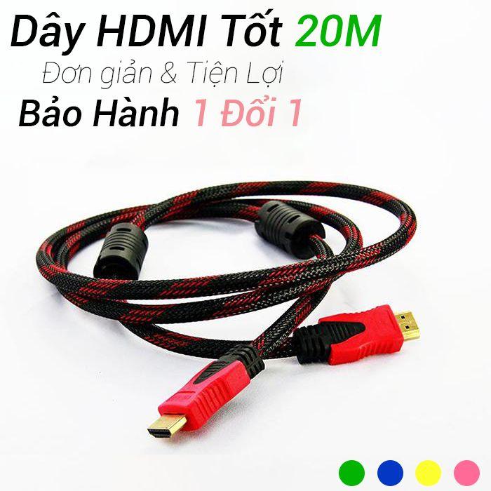 Dây cáp HDMI to HDMI 20 mét dây dù chống đứt Normal