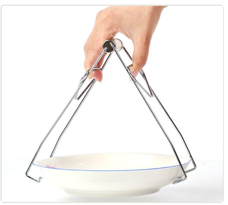 Dụng cụ inox gắp bát đĩa nóng